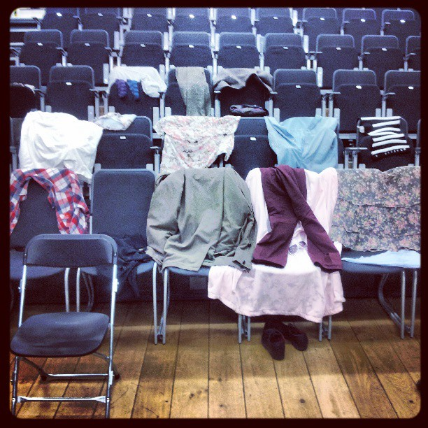 Soaking costumes drying out after last night's incredibly energetic performance