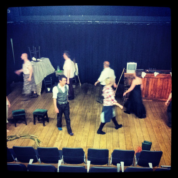 Cast of #POTWW warming up before tonight's performance.