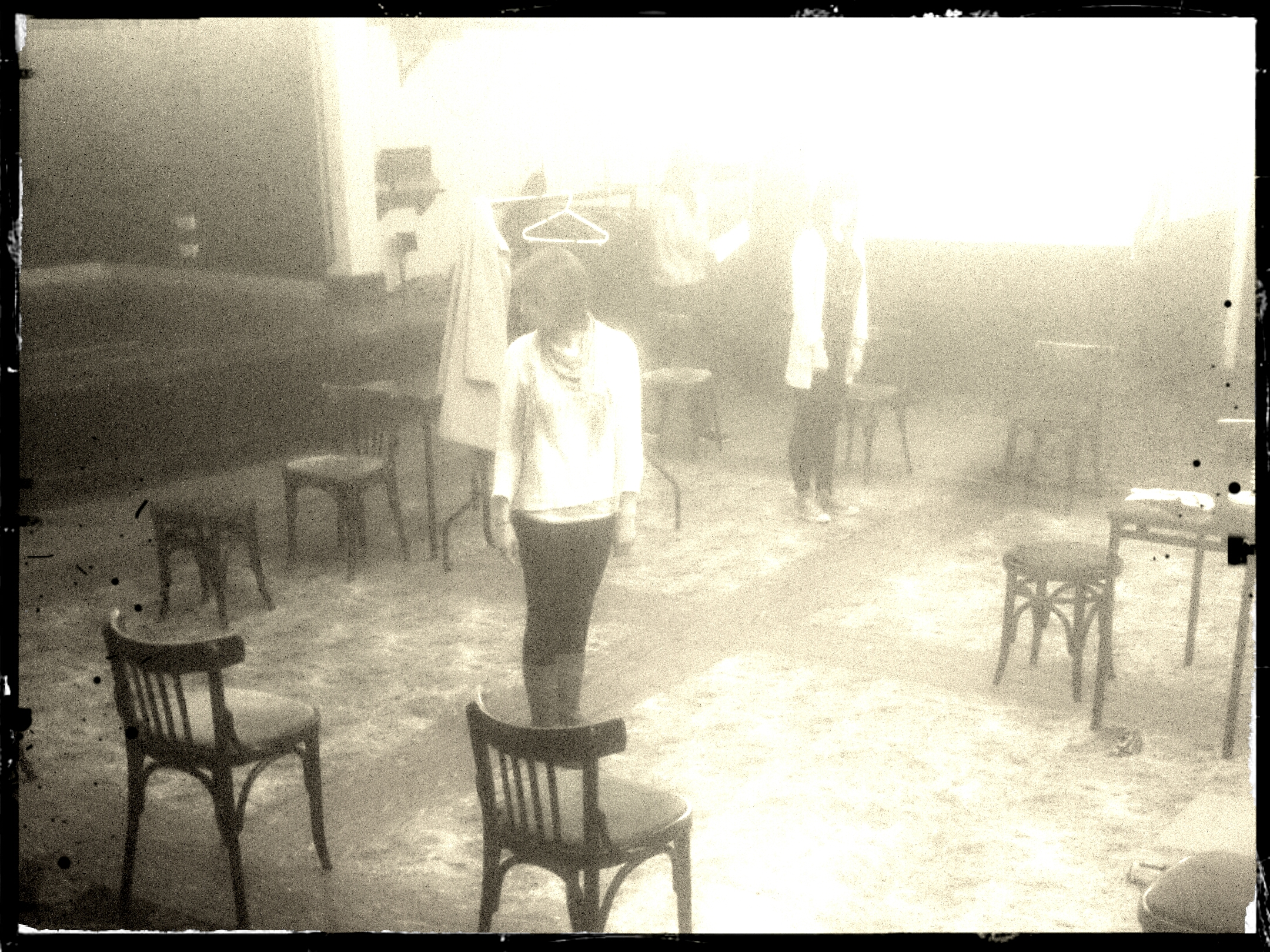 The Maids - rehearsal shot